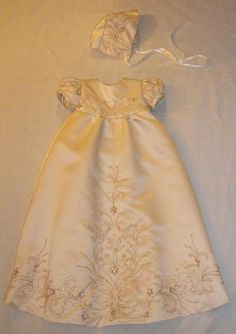 Alaina's Custom Christening Gown made to order by BertasBoutique