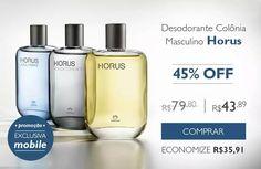 Homem cheiroso é tudo de bom! O perfume masculino Horus esta na promoção para compras exclusivamente pelo celular. Compre online na Rede Natura acessando www.redenatura.net/espaco/suellen_ga #homem #namorado #noivo #marido #natura #perfume #presente #promocao