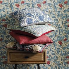 Morris & Co fabric - a full range of authentic and timeless designs. Shop our range of Morris & Co wallpaper and William Morris fabric today. Tapestry Design, Textile Design, Fabric Design, Texture Words, Feature Wall Design, Coverlet Bedding, Printed Linen, Arts And Crafts Movement, Color Swatches