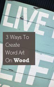 3 Ways to Create Wor
