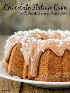 Chocolate Italian Bundt Cake with Chocolate Cream Cheese Glaze