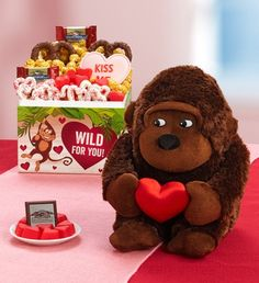 WILD for your Valentine? Send them this Wild for You Valentine monkey with a box of delicious sweet treats! $39.99