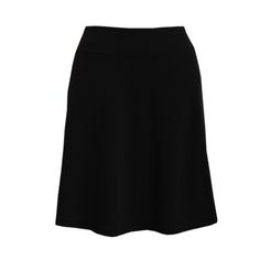"""Travel Skirt in Solid Black Activewear Fabric, """"Black"""" A-line Skirt"""