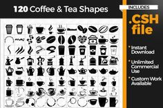 Coffee and Tea Shapes By AfterTenGraphics
