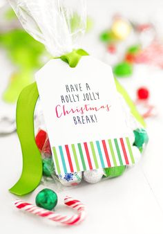 Christmas Goodie Bag Tags — Free Printables from shewearsmanyhats.com