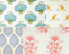 Katie Ridder | Wallpaper | Harbinger Would love upper right in boys bathroom.  Love bottom right for girls bedroom
