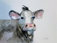 Cow Art, Fine Art Gallery, Cows, Watercolor, Artist, Animals, Painting, Pen And Wash, Watercolor Painting