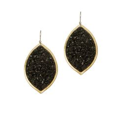 Marquise Earring - Blk Tourm