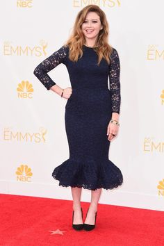 Natasha Lyonne Photos - Actress Natasha Lyonne attends the Annual Primetime Emmy Awards held at Nokia Theatre L. Live on August 2014 in Los Angeles, California. - Arrivals at the Annual Primetime Emmy Awards — Part 2 Natasha Lyonne, Red Carpet Dresses, Blue Dresses, The Emmys, Orange Is The New Black, Red Carpet Fashion, Modest Fashion, Modest Outfits, Lace Dress