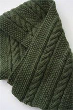 no pattern just inspiration!! Jade Cashmere Scarf Kit (manly scarf)