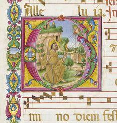 ST FRANCIS RECEIVING THE STIGMATA, historiated initial 'G' on a bifolium FROM THE BELLUNO GRADUAL, in Latin, ILLUMINATED MANUSCRIPT CHOIRBOOK ON VELLUM | Books & Manuscripts, medieval & renaissance manuscripts | Christie's
