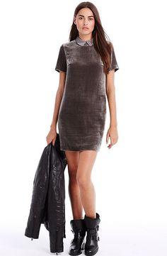 Velvet Shift Dress - Bestsellers - Womens - Armani Exchange