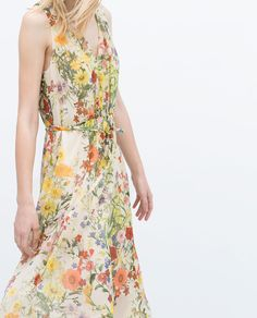FLORAL DRESS WITH FRONT GATHERING-Dresses | ZARA United States