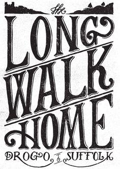 Elbel's Long Walk Home - benjamin Carr Illustration #type #design