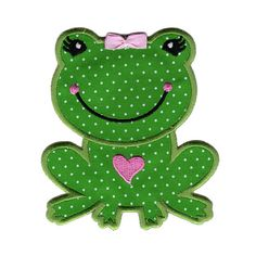 PatchMommy Iron On Applique Patch, Girl Frog - Kids Baby - deal and steals parents Baby Applique, Machine Embroidery Applique, Iron On Applique, Applique Quilts, Machine Quilting, Quilt Patterns Free, Applique Patterns, Applique Designs, Embroidery Designs