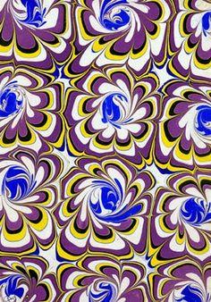 Artist Larissa Don. Papeles Decorados: Técnicas tradicionales y creación artística contemporánea. : El nuevo marmoleado / New marbling