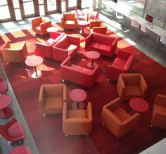 Hush Lounge- Overhead view. by @Arcadia Contract Furniture