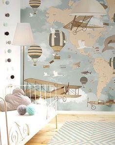 Little Hands Wallpaper Mural - World Map Travel II on Behance