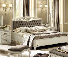Camel Group Nostalgia Bianco Antico Curvo Fregio Upholstered Bed Frame... Price:  £1,361.77