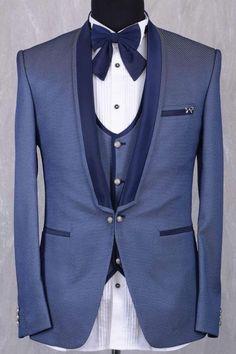 Stone Blue Italian Tuxedo Suit-ST705