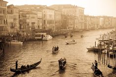 Venice Photography - Busy Morning on the Rialto Venice, Italy Photograph - Italian Decor - mint green.