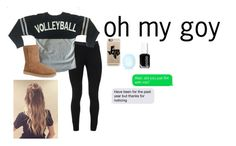 """""""oh my goy oh my goy"""" by personunknown ❤ liked on Polyvore featuring Peace of Cloth, UGG Australia, Casetify, Topshop and Essie"""