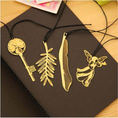 Cute Kawaii Gold Metal Bookmark Vintage Key Feather Angel Bookmarks Paper clip for book Korean Stationery Free shipping 829 #>=#>=#>=#>=#> Click on the pin to check out discount price, color, size, shipping, etc. Save and like it!