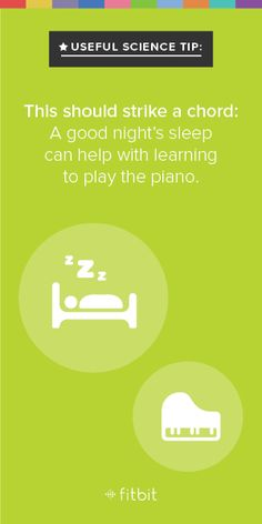 So when you're supposed to be practicing for that piano recital, maybe you should just hit the hay.