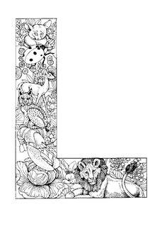 dibujos colorear Abecedario Animales 12