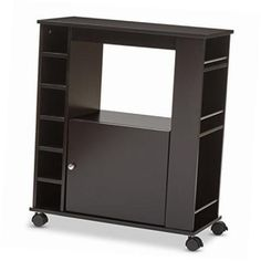 contemporary wood dry bar and wine cabinet dark brown >>> You can find out more details at the link of the image. (This is an affiliate link) Wine Cabinets, Home Kitchens, Dark Brown, Locker Storage, Bar, Contemporary, Link, Wood, Image