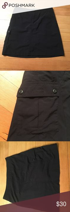 Patagonia skirt with built in shorts. Cute and useful shorts for your outdoors adventures. They are size four and have one pocket on them side. Patagonia Shorts Skorts