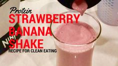 This delicious and easy strawberry banana protein shake recipe only has 4 ingredients and takes 2 minutes to make! Perfect for breakfast.