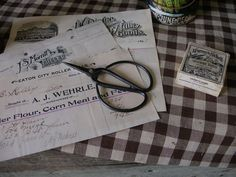 Old general store receipts! We love primitives here at Sweet Liberty Homestead! We hope you'll visit us soon! :  ) http://www.picturetrail.com/sweetliberty