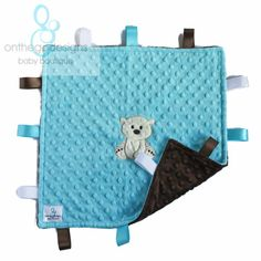 Personalized tag blanket Minky Baby Blanket by OnTheGoDesigns, $22.00