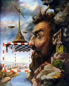"""""""portret jednog Pana"""", 2006 Ulje/Platno, 80cm x 100cm (31.5'' x 39.4''), Autor: Aničić Stojan Oki"""