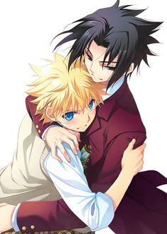 Naruto & Sasuke | Naruto (Autor: Himitsu Bus Sitio: delta.boy.jp/h-bus/)…