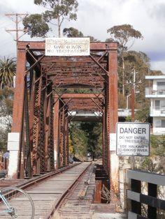 Santa Cruz California, The Lost Boys bridge. The actual bridge though that they filmed on is in Valencia CA. near Magic Mountain