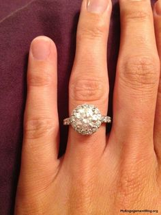 lovely diamond round engagement ring - My Engagement Ring