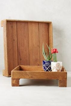 Anthropologie Reclaimed Wood Tray #anthrofave #anthropologie