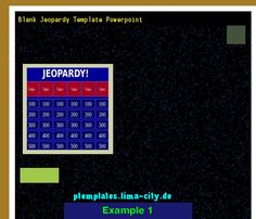Best Jeopardy Template Powerpoint Templates   The Best
