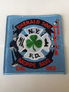 New York City Fire Department Emerald Society Bagpipe Band Patch.