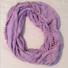 Barely Worn J. Crew Infinity Scarf Like new! J. Crew Pom Pom infinity scarf. J. Crew Accessories Scarves & Wraps