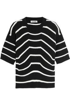 Jil Sander Striped wool and cashmere-blend sweater | NET-A-PORTER