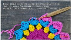 Cómo Tejer Flor Mandala Fácil Crochet / DIY | Paso a Paso Crochet Diy, Crochet Motif, Crochet Doilies, Crochet Flowers, Crochet Hats, Crochet Curtains, Crochet Videos, Hot Pads, Floral Motif