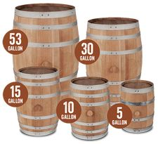 Small Premium + Charred Oak Barrels | American White Oak Barrels