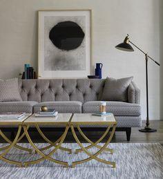 DwellStudio: Chester Sofa with Haviland Tables