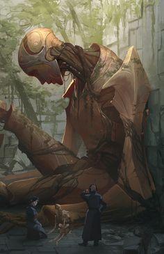 The Ancient One, Pedro Krüger Garcia – Cyberpunk Gallery Fantasy Concept Art, Dark Fantasy Art, Fantasy Artwork, Fantasy World, Alien Concept Art, Concept Art World, New Retro Wave, The Ancient One, Arte Cyberpunk