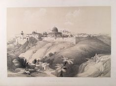 David Roberts View of Jerusalem print for sale. Shop for David Roberts View of Jerusalem painting and frame at discount price, ships in 24 hours. Cheap price prints end soon. Landscape Prints, Holy Land, Historical Pictures, Beautiful Paintings, Painting & Drawing, Find Art, 19th Century, Giclee Print, Medieval