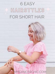 6 Easy Hairstyles for short hair - Short hair can be so much fun when you get comfortable experimenting. Here are 6 cute and easy hairstyles for short hair