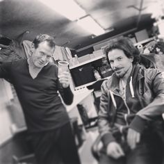 "Via Luke Pasqualino's Instagram: ""[Jason] Flemyng... [Santiago] Cabrera... Done!"" The Musketeers"